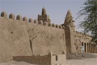 Photogrammetric image of the eastern part and main tower of Djingereyber in Timbuktu, Mali