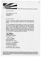 [Letter from the National Petition Campaign Committee to Margaret Thatcher]