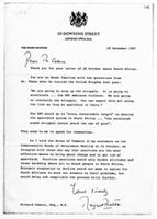 [Letter from Margaret Thatcher to Richard Caborn]