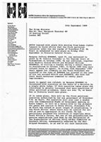 [Letter from Southern Africa the Imprisoned Society to Margaret Thatcher]