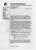 [Letter from the Anti-Apartheid Movement to John Major]
