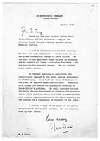 [Letter from Margaret Thatcher to Mrs. E. Terry]