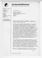 [Letter from Robert Hughes to Malcolm Rifkind]