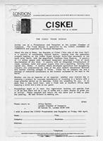 The Ciskei Trade Mission