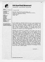 [Letter from the Anti-Apartheid Movement to Lynda Chalker]