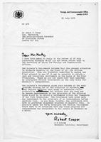 [Letter from R.F. Cooper to Abdul S. Minty]