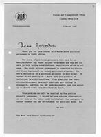 [Letter from Douglas Hurd to Trevor Huddleston]