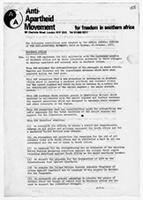 The Following Resolutions were Adopted by the Annual General Meeting of the Anti-Apartheid Movement