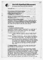 Matters arising from the minutes of the meeting of the National Committee Meetings held on 14 September and 27 October 1974