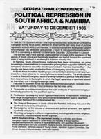 SATIS National Conference Political Repression in South Africa and Namibia