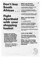 Don't Buy South African?Fight Apartheid with your Shopping Basket