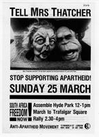 Tell Mrs. Thatcher Stop Supporting Apartheid!