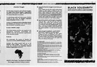 Black solidarity with South African and Namibia/Call to Action