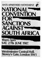 AAM National Convention for Sanctions Against South Africa