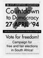 Countdown to Democracy, 27 April '84 Vote for Freedom
