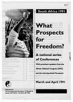 South Africa 1991. What Prospects for Freedom?