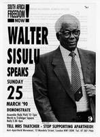 South African Freedom Now! Walter Sisulu Speaks, 25 March 1990.