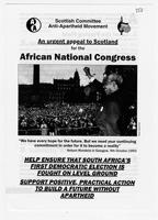 An Urgent Appeal to Scotland for the African National Congress
