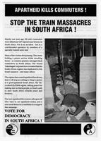 Apartheid Kills Commuters! Stop the Train Massacres in South Africa!