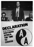 Declaration of Southern Africa: the Time to Choose conference.