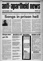 Anti-Apartheid News, September 1969