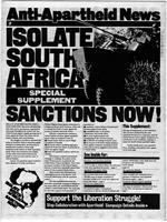 Anti-Apartheid News, Special Supplement