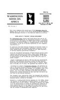 Washington notes on Africa, Vol. 2, No. 1