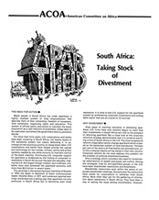 South Africa: Taking Stock of Divestment