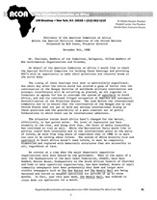 Testimony of the American Committee on Africa before the Special Political Committee, United Nations