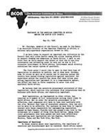 Testimony of the American Committee on Africa before the Austin City Council