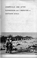 Sharpeville and Africa-Suppression and Liberation in Southern Africa