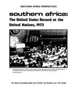 Southern Africa: The United States Record at the United Nations, 1973