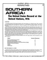 Southern Africa: The United States Record at the United Nations, 1976