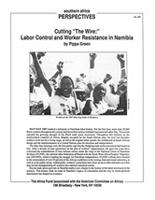 "Cutting ""The Wire:"" Labor Control and Worker Resistance in Namibia"