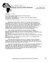 Re: August 1993 Report of Violence from Human Rights from the Human Rights Commission, South Africa