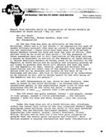 Report from Jennifer Davis on Inauguration of Nelson Mandela as President of South Africa - May 10, 1994
