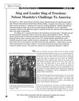 Sing and Louder Sing of Freedom: Nelson Mandela's Challenge