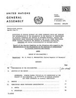 Report of the Special Committee on the Situation with regard to the Implementation of the Declaration on the Granting of Independence to Colonial Countries and Peoples. Activities of Foreign Economic and Other Interests which are Impeding the Implementation of the Declaration on the Granting of Independence to Colonial Countries and Peoples in Southern Rhodesia, Namibia and Territories under Portuguese Domination and in All Other Territories under Colonial Domincation and Efforts to Eliminate Colonialism, Apartheid and Racial Discrimination in Southern Africa.