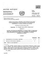 Report of the Special Committee on the Situation with Regard to the Implementation of the Declaration on the Granting of Independence to Colonial Countries and Peoples (covering its work during 1972). Chapter IV: Military Activities and Arrangements by Colonial Powers in Territories under Their Administration Which Might Be Impeding the Implementation of the Declaration on the Granting of Independence to Colonial Countries and Peoples.