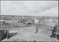 Part 06, Refugees and displaced persons in and around Mozambique: European parliamentarians visiting Internally Displaced People camp near Dondo, Mozambique, March 1988.