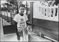 Part 08, Namibia elections, 1989: Namibia 1989 elections: 'My vote is my secret', Windhoek, November 1989.
