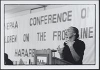 Part 04, AWEPAA activities in Europe and Southern Africa: Gra‡a Machel, Harare, April 1990.