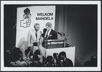 Part 02, South Africans in the Netherlands: Nelson Mandela and Wim Kok, Amsterdam, June 1990.
