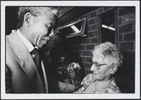 Part 02, South Africans in the Netherlands: Nelson Mandela and Stella Hilsum, Amsterdam, June 1990.