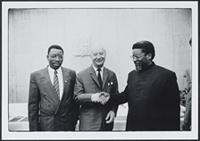 Part 04, AWEPAA activities in Europe and Southern Africa: Alexander Dub?ek and Moses Garo‰b, Prague, June 1991.
