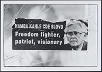 Part 12, Miscellaneous: Placard in memory of Joe Slovo, Bloukombos township, Cape Town, September 1996.