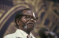 Part 11, Portraits: Oliver Tambo, Harare, September 1987.
