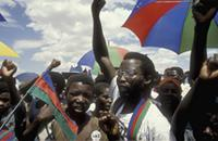 Part 08, Namibia elections, 1989: SWAPO pre-elections rally, Windhoek, November 1989 [2].