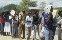 Part 08, Namibia elections, 1989: Namibia 1989 elections: voting in Katatura township, Windhoek, November 1989 [1].