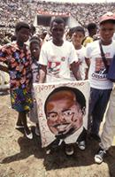 Part 10, Mozambique elections, 1994: Mozambique 1994 elections: FRELIMO pre-elections rally, Maputo, October 1994 [3].